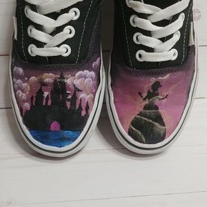 Custom Disney Cinderella Castle Vans Authentic